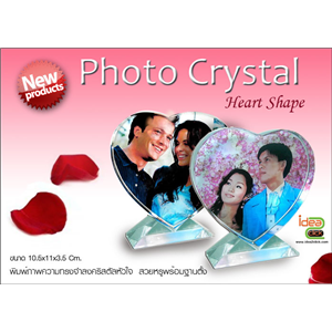 [crystal-14] New! Photo Crystal ทรงหัวใจ